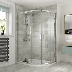 Wickes Semi Frameless Offset Quadrant 1200x800mm