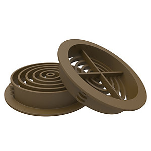 Image of Manthorpe Brown 70mm Circular Soffit Vent