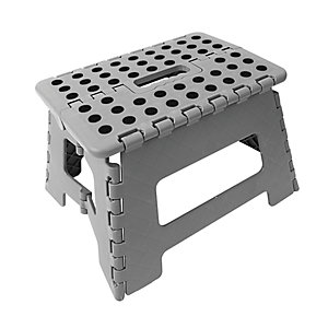 Wickes Plastic Folding Step Stool Grey. Not suitable for use as a work platform