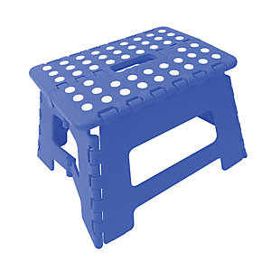 Wickes Plastic Folding Step Stool Blue. Not suitable for use as a work platform