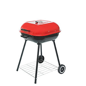 Square 54cm Charcoal BBQ with Lid