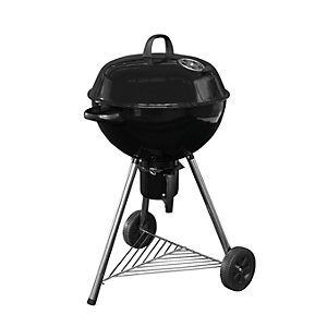 Black 64cm Charcoal Kettle BBQ