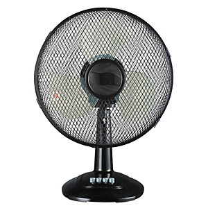 "Wickes 12"" Oscillating Desk Fan"