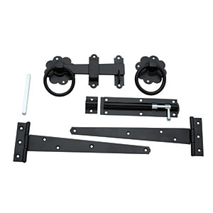 Wickes Ring Gate Latch Kit Black