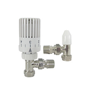 Wickes Economic Thermostatic Radiator Valve With Lockshield