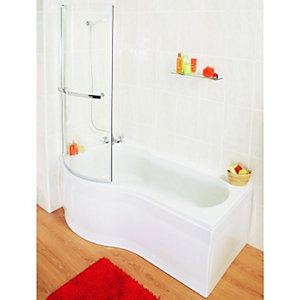 Wickes Misa Compact Bath Front Panel White 1500mm