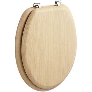 Wickes Natural Pine Effect Toilet Seat