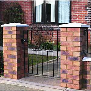 Wickes Chelsea Bow Top Black Metal Gate 900x838mm