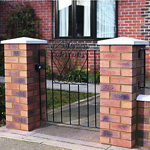 Wickes Chelsea Bow Top Black Metal Gate 900mm High – Fits Opening of 914mm