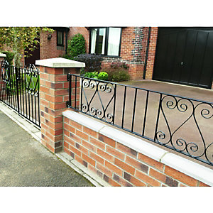 Wickes Chelsea Wall Railing 365 x 1830mm
