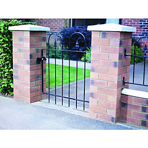 Wickes Kensigton Black Metal Gate 914x914mm