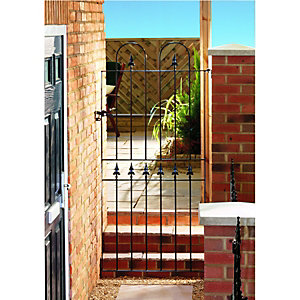 Wickes Kensington Black Metal Gate 1795mm High – Fits Opening 914mm