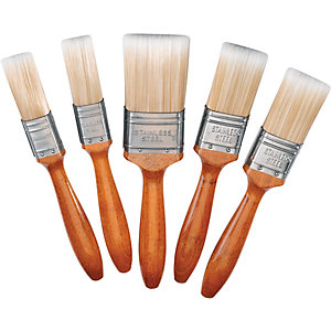 Wickes Mastercoat Synthetic Paint Brush Set 5 Pack