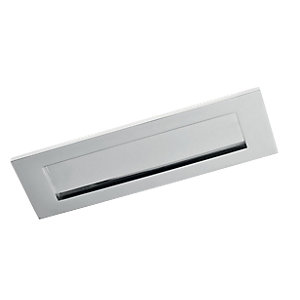 Wickes Letterbox Chrome 76x254mm