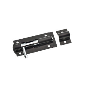 Wickes Tower Bolt Black 76mm