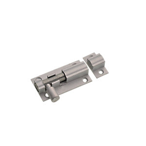 Wickes Barrel Bolt Satin Aluminium 51mm