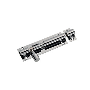 Wickes Barrel Bolt Chrome Effect 76mm