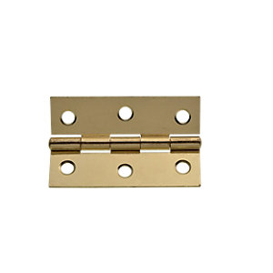 Wickes Butt Hinge Brass Plated 76mm 2 Pack