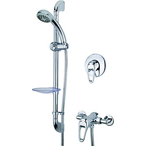 Wickes Marilla Manual Mixer Shower Chrome