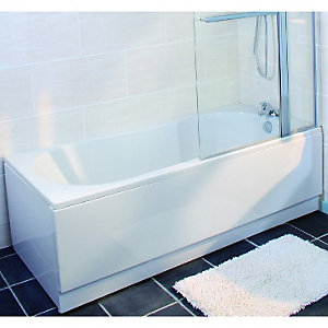 Wickes Keyhole Bath End Panel White 800mm