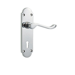 Wickes Vancouver Victorian Shaped Lock Handle Chrome Finish