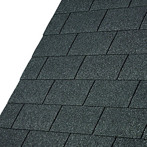 IKO Armourglass Black Square Shingles 3m2 Pack 21