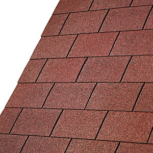 Iko Armourglass Tile Red Square Shingles 3m2 Pack 21