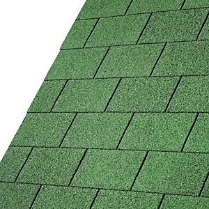 Iko Armourglass Forest Green Square Shingles 3m2 Pack 21