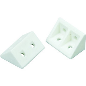 Wickes White Rigid Joint Blocks Pack 20