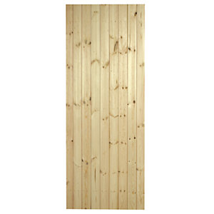 Wickes Winslow External Pine Ledged & Braced Door 1981x762mm