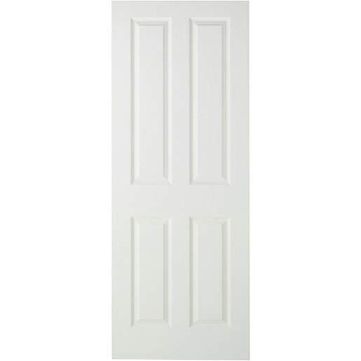 Wickes stirling internal moulded door white primed smooth for Door viewer wickes