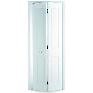 Wickes Stirling Internal Bi-fold Door White Smooth Moulded 4 Panel 1981 x 762mm