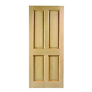 London 4 Panel Hardwood Veneer External Door 2032mm x 813mm x 44mm