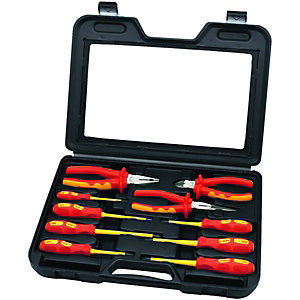 Wickes VDE Insulated Screwdriver & Plier Set Pack 10