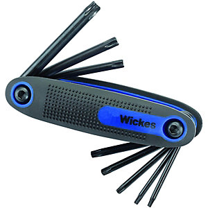 Wickes Hand Held TX Star Hexagon Key Set Pack 8