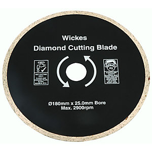 Wickes Tile Saw Diamond Cutting Blade 180mm