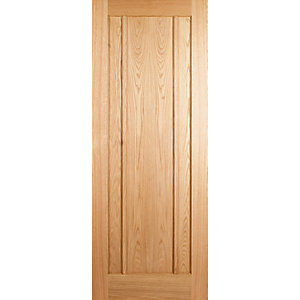 Wickes York Internal Fire Door Oak Veneer 3 Panel 1981x838mm