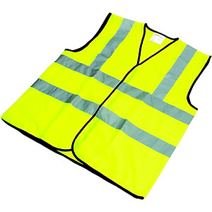 Wickes High Visibility Waistcoat Yellow Extra Large