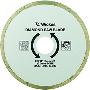 Wickes Tile Saw Diamond Cutting Blade 110mm