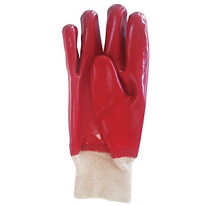 Wickes/Safety & Workwear/Workwear/Wickes PVC Gloves Red One Size