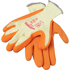 Wickes Builders Grippa Gloves Orange Large