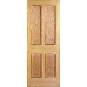 Wickes Denham Internal Oak Veneer Door 4 Panel 1981x838mm