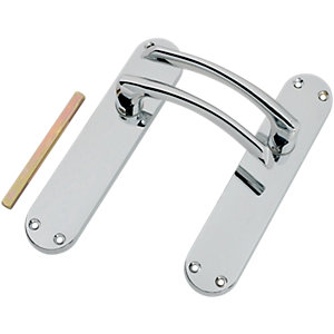 Wickes Dante Latch Handle Polished Chrome Finish