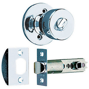 Wickes Privacy Knob Set Chrome Finish