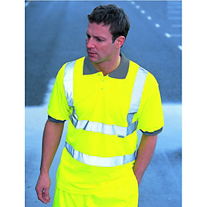 Wickes Class 2 High Visibility Polo Shirt Yellow Large