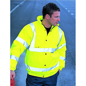 Wickes Class 3 High Visibility Bomber Jacket Yellow Extra Large