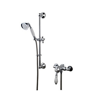 Wickes Classic Manual Mixer Shower Chrome/White