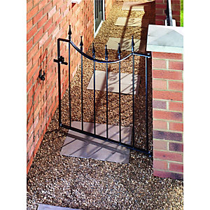 Wickes Windsor Black Metal Gate 925mm High – Fits Opening of 914mm