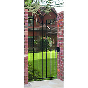 Wickes Windsor Black Metal Gate 1880mm High - Fits Opening of 914mm