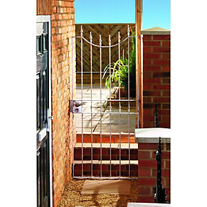 Wickes Windsor Galvanised Metal Gate 1880mm High - Fits Opening of 914mm